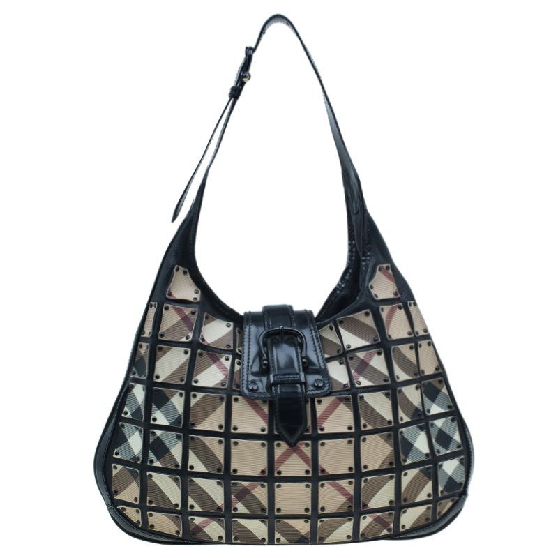 1da79b0305e Buy Burberry Black Nova Check Brooke Warrior Hobo 1110 at best price ...