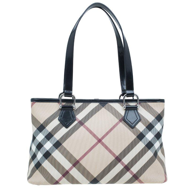 0febf8263b1c Buy Burberry Beige Nova check Regent Tote Bag 42342 at best price