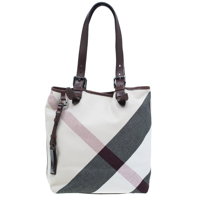 b7d5256bf1c ... Burberry Brown Mega Check Canvas Victoria Tote Bag. nextprev. prevnext