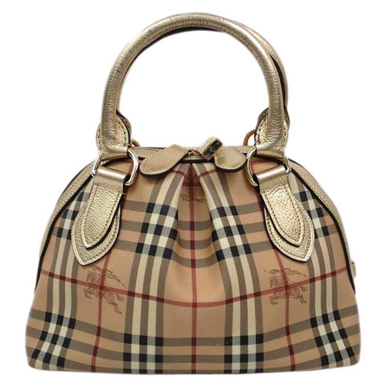 432d50a1b0f0 ... Burberry Haymarket Check Coated Canvas Small Thornley Bowling Bag.  nextprev. prevnext