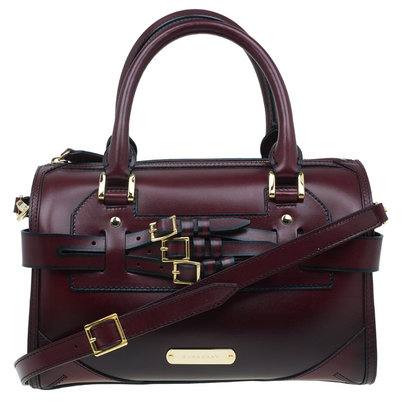 ... Burberry Burgundy Bridle Leather Belted Bowling Bag. nextprev. prevnext 45d7eafaa3