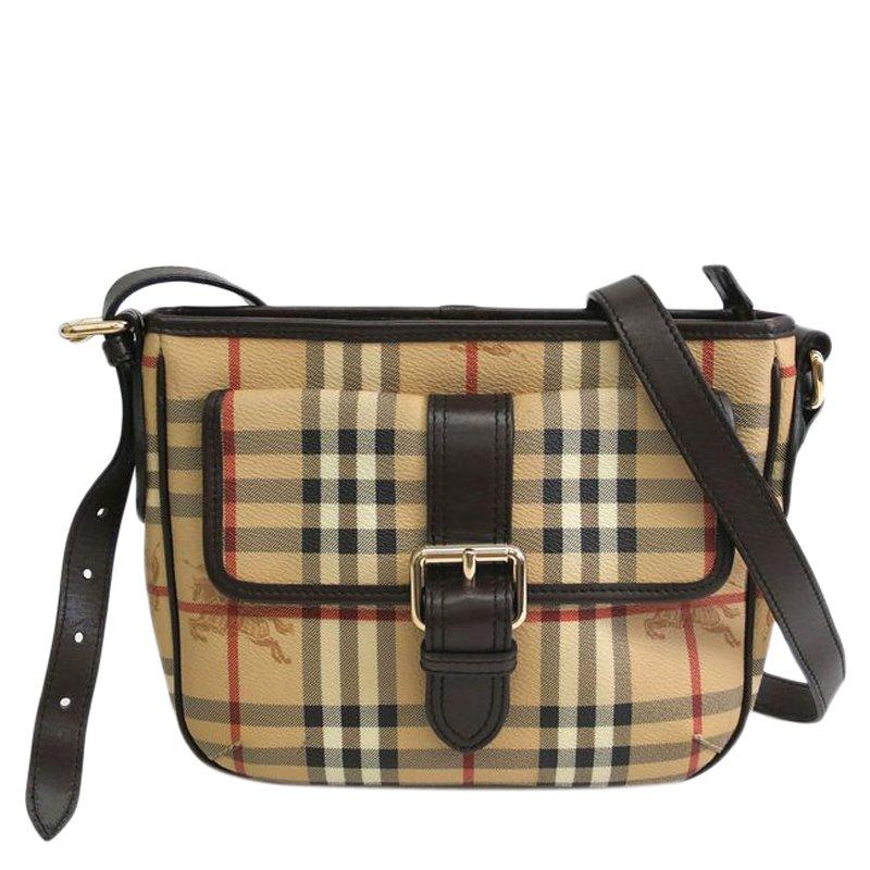 ae8f614d040 ... Burberry Haymarket Check Coated Canvas Crossbody Bag. nextprev. prevnext