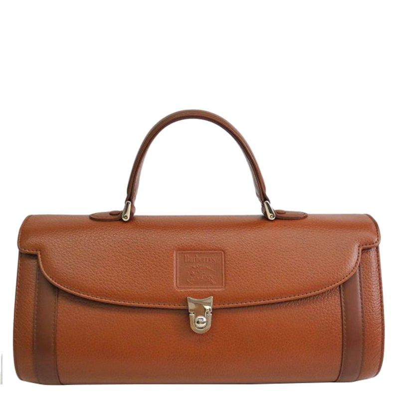 ... Burberry Brown Pebbled Leather Vintage Top Handle Bag. nextprev.  prevnext 42dca37a0327a