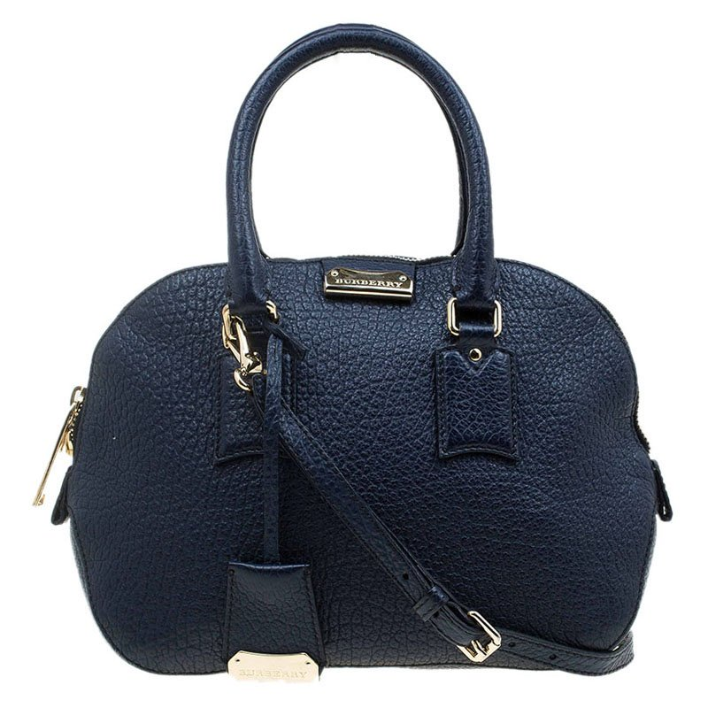 36a158ae7515 ... Burberry Navy Blue Grain Leather Small Orchard Bowling Bag. nextprev.  prevnext