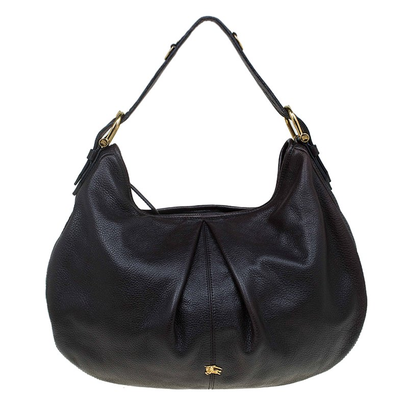 d9238d2a4 Buy Burberry Black Leather Large Malika Hobo 67411 at best price   TLC