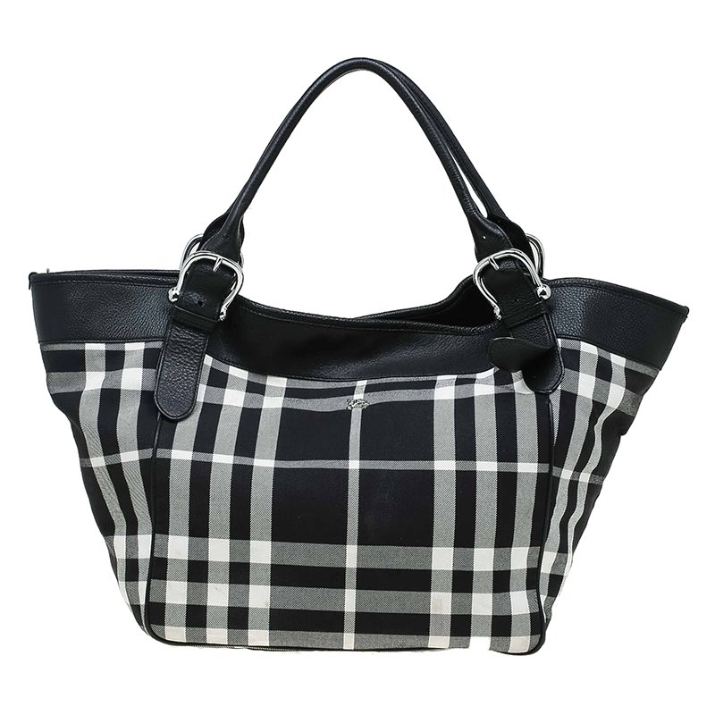 ... Burberry Black White Fabric Check Beach Tote w  Pouch. nextprev.  prevnext 02d88b85555ce