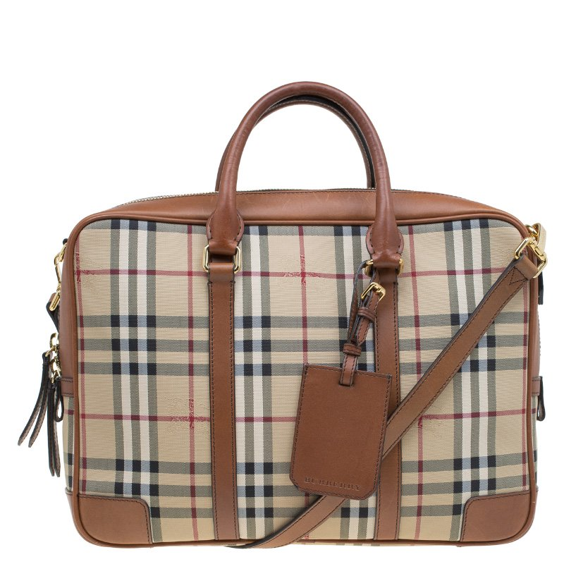 304cf6043af8 Buy Burberry Beige Brown Newburgh Canvas and Leather Horseferry ...