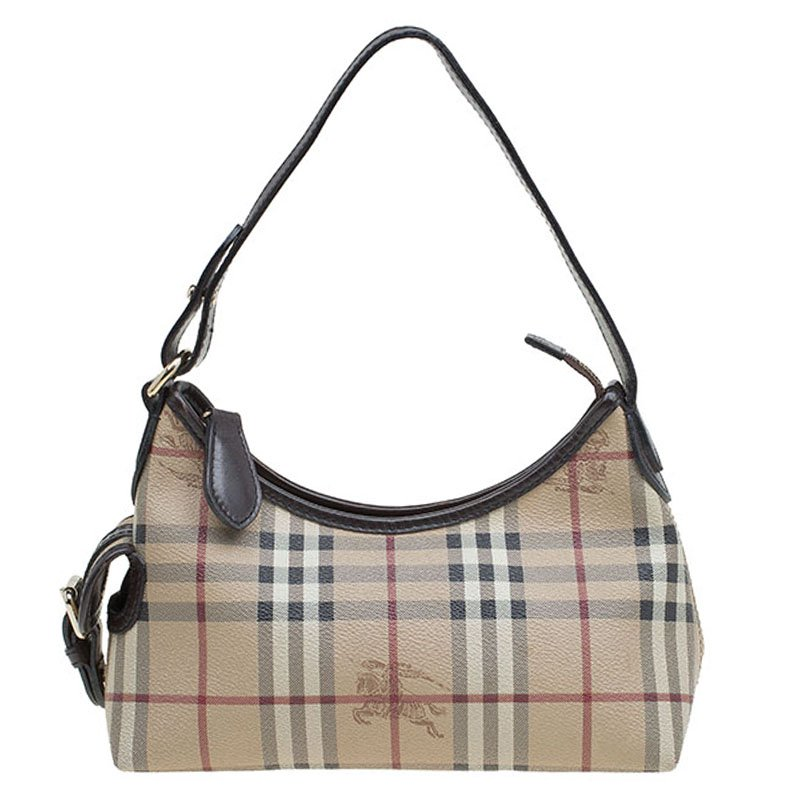 7116dfc50295 ... Burberry Beige Classic Check Coated Canvas Side Pocket Shoulder Bag.  nextprev. prevnext