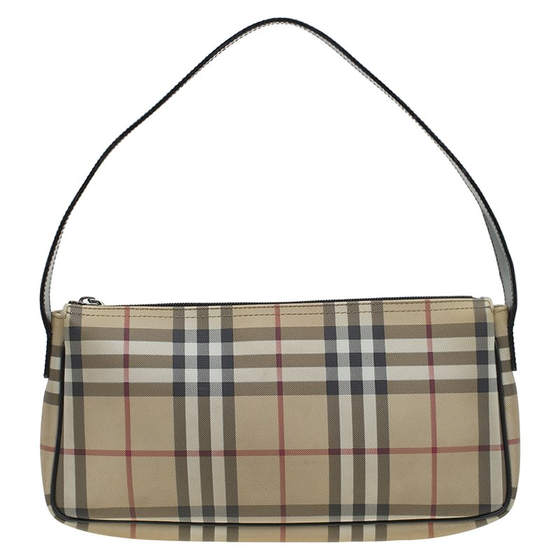 22bde5a4f149 Buy Burberry Beige Nova Check PVC Shoulder Bag 84487 at best price