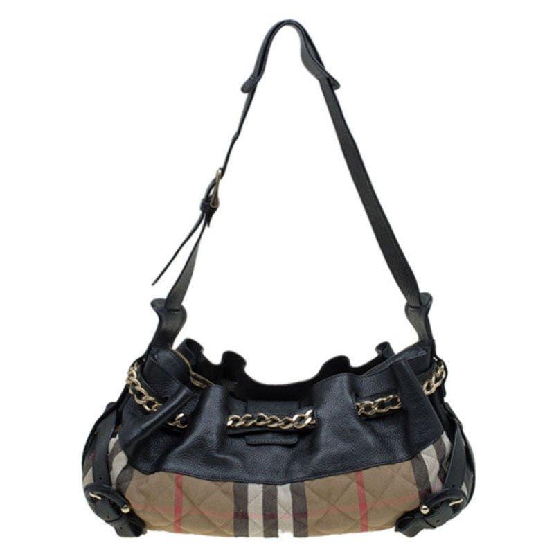 29c4cd59eecb ... Burberry Black Quilted House Check Margaret Shoulder Bag. nextprev.  prevnext
