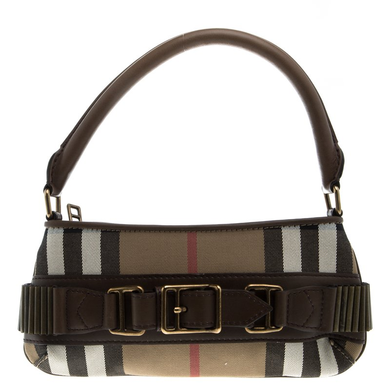 86a6c8a0615a ... Burberry Brown Vintage House Check Fabric Small Cartridge Sling Bag.  nextprev. prevnext