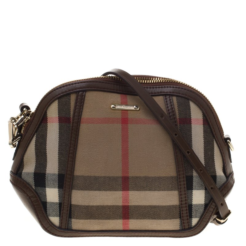 14dc196590d1 Buy Burberry House Check Fabric Mini Orchard Crossbody Bag 95506 at ...
