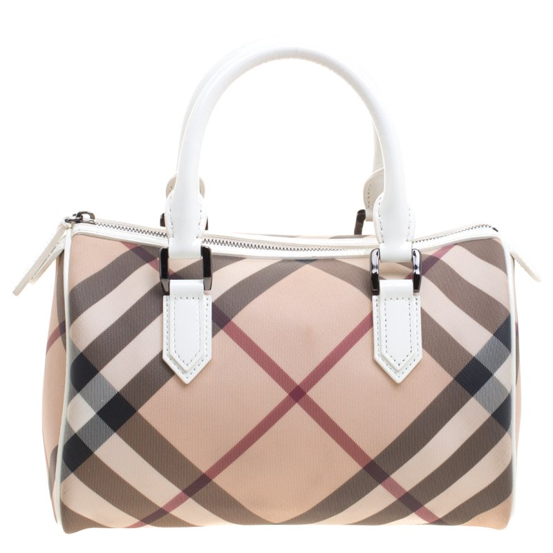... Burberry White Nova Check PVC Chester Boston Bag. nextprev. prevnext e865d46fe806f