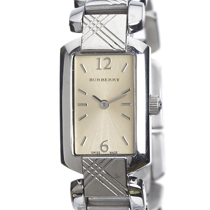 f78b293c5 Buy Burberry Silver Stainless Steel Signature BU4212 Women's ...