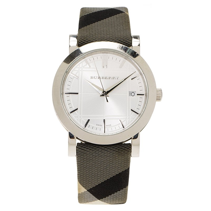 a97c36a93998 ... Burberry Silver Stainless Steel Heritage BU1378 Women s Wristwatch  38MM. nextprev. prevnext