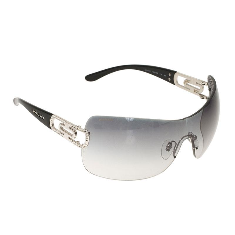 dfffaf7840c9c Buy Bvlgari Black 6023B Strass Edge Shield Sunglasses 39293 at best ...