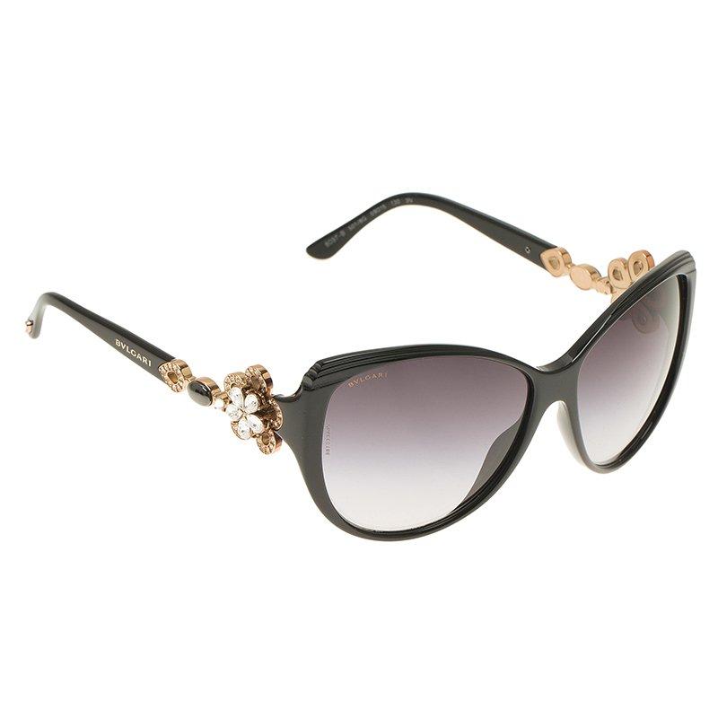 c9655e5f0b6e ... Bvlgari Black Limited Edition 8097 Crystal Flower Cat Eye Sunglasses.  nextprev. prevnext