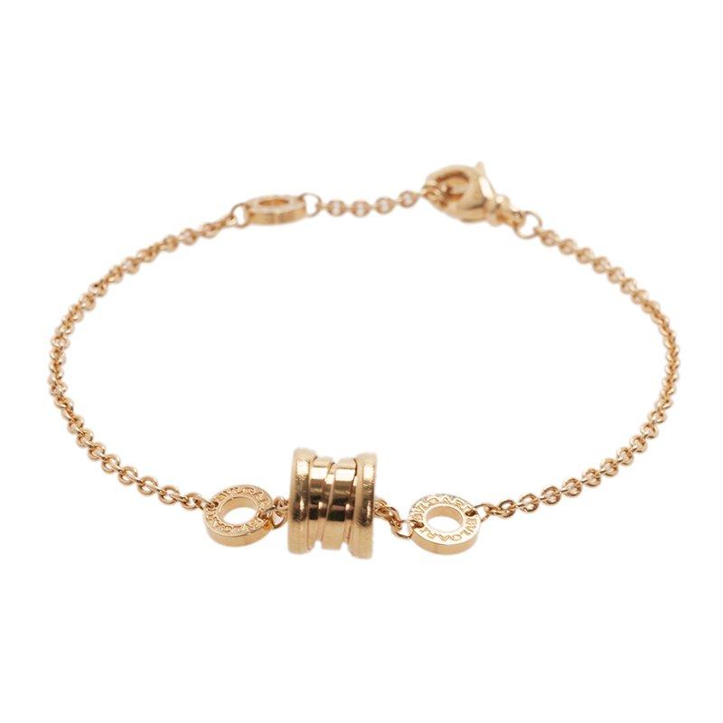 Bvlgari B.Zero1 18K Yellow Gold Soft Bracelet 19CM