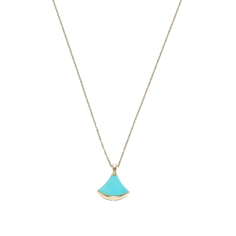 00c5c5e5f9 Buy Bvlgari Divas  Dream Turquoise Diamond Rose Gold Pendant Chain ...