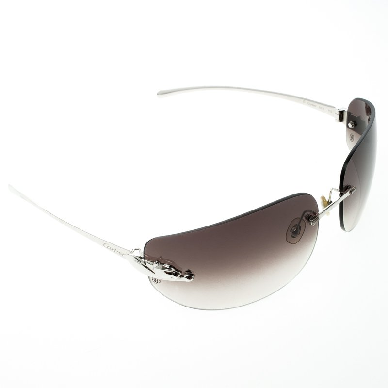 0a3aaa91619 ... Cartier Brown 110 Panthere Rimless Sunglasses. nextprev. prevnext