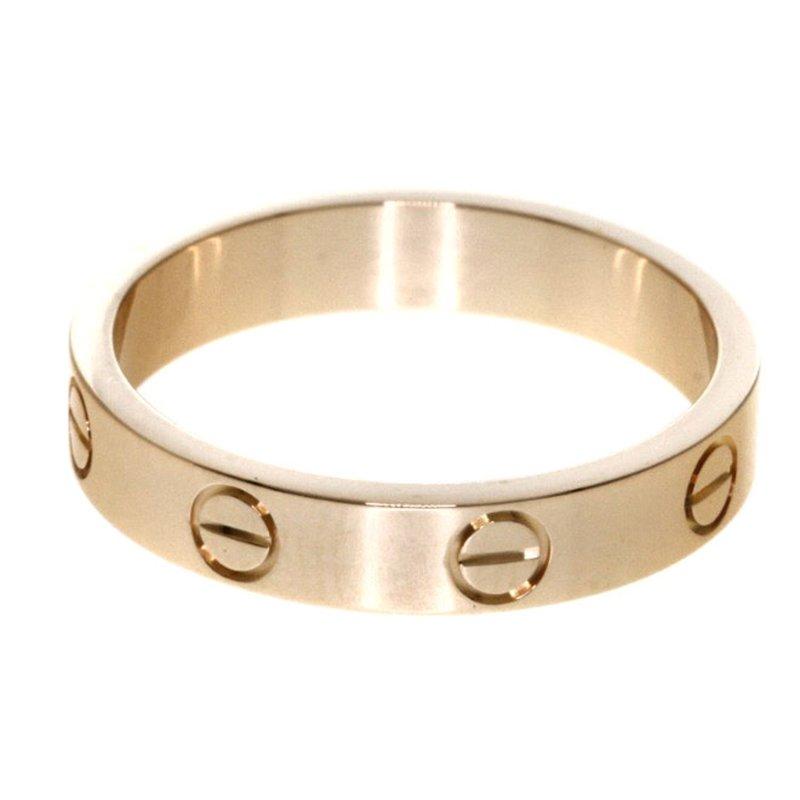 Cartier Wedding Band.Cartier Love Rose Gold Wedding Band Ring Size 52