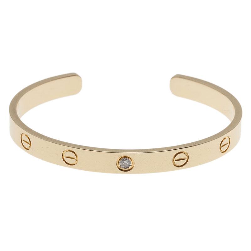 5e75328f2a1 ... Cartier Love 1 Diamond Yellow Gold Open Cuff Bracelet. nextprev.  prevnext