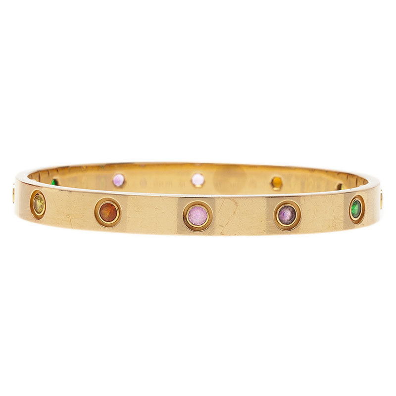 b636449fb Cartier Love Bracelet Colored Stones - Bracelet Photos Onneyuonsen.Com