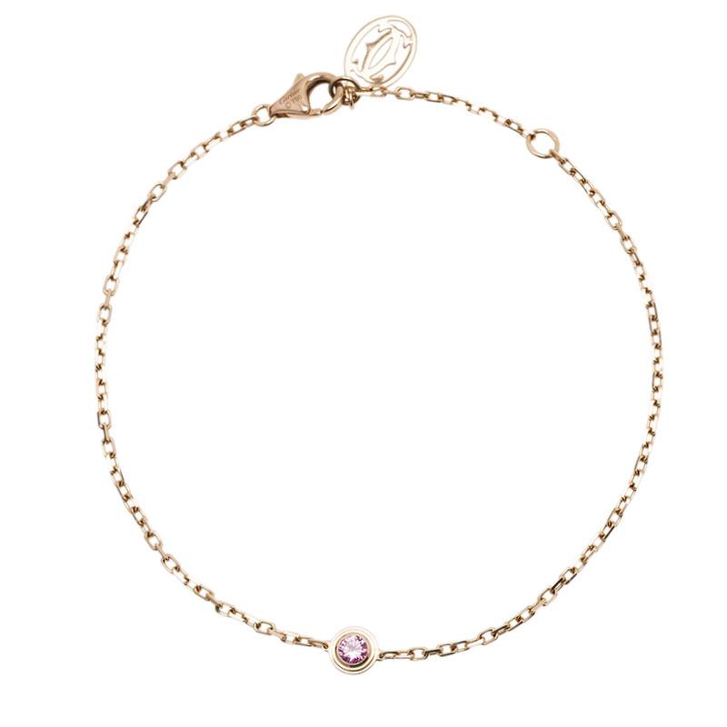 Cartier Saphirs Légers De Cartier Pink Sapphire Rose Gold Bracelet