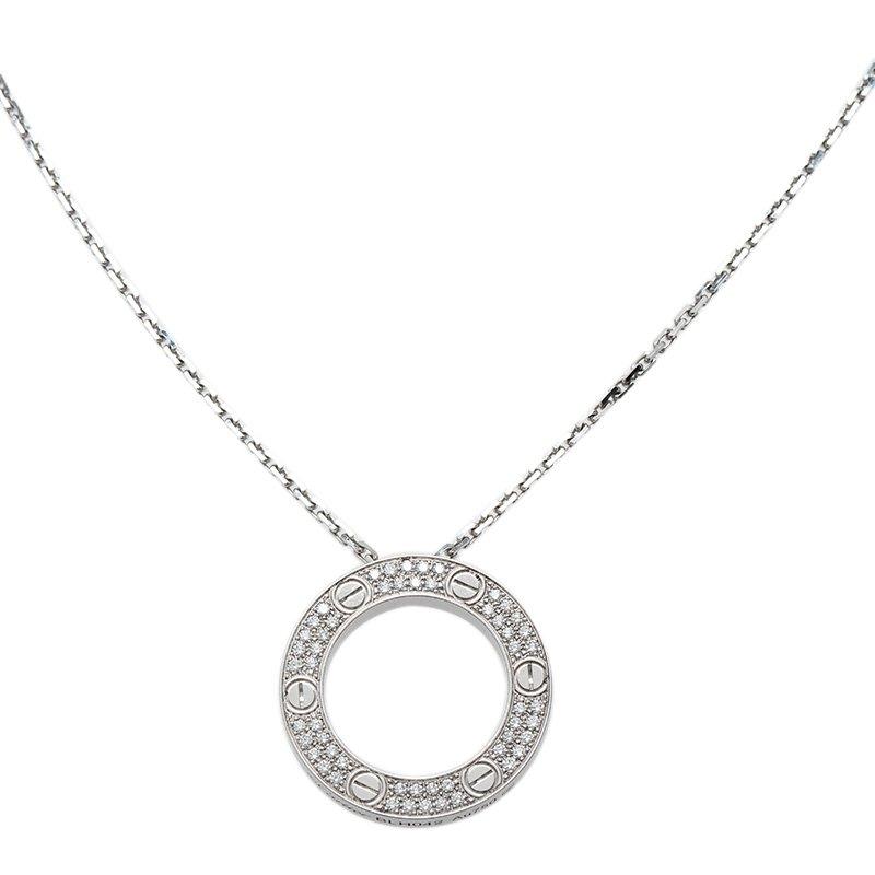 a1c561ecd628b ... Cartier Love Diamond Pave White Gold Pendant Necklace. nextprev.  prevnext