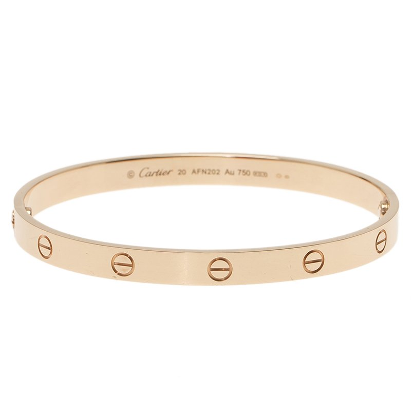 Cartier Love Rose Gold Bracelet 20cm