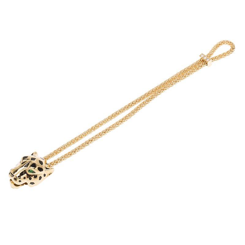 8986946257d Buy Cartier Panthere de Cartier Diamond, Garnet & Onyx Yellow Gold ...