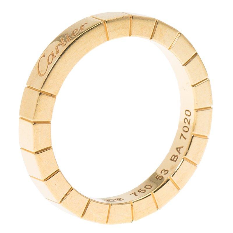 4996c4d279e13 Cartier Lanières Yellow Gold Band Ring Size 53