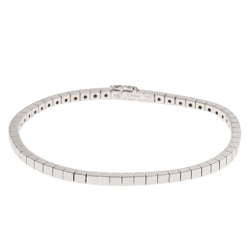 Cartier Lanières White Gold Bracelet Size 16