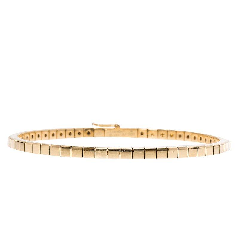 2720a752b3744 Cartier Lanières Yellow Gold Bracelet Size 16