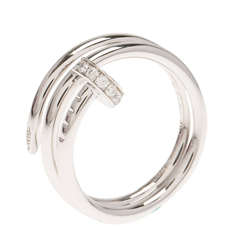1a00499118fb Buy Cartier Juste Un Clou Diamond White Gold Ring Size 48 65872 at ...