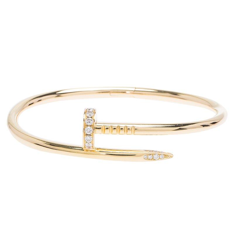 3ac68eb7f343c Cartier Juste Un Clou Diamonds & Rose Gold Bracelet 17cm