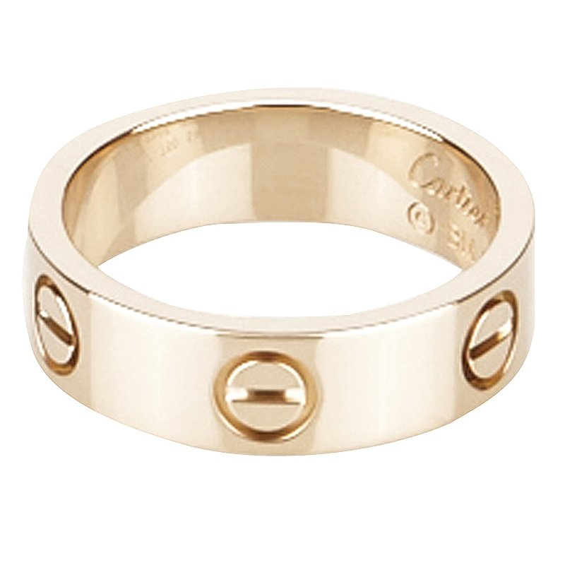 Cartier Love Rose Gold Ring Size 54