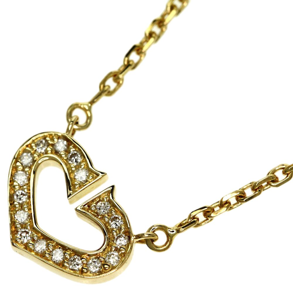 Cartier C de Cartier Diamond Pave Yellow Gold Necklace