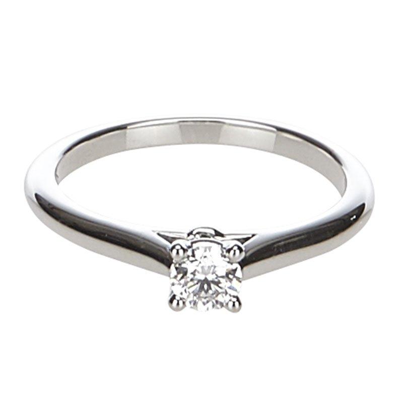 31217dae2b24a Cartier 1895 Solitaire Diamond Platinum Engagement Ring Size 51