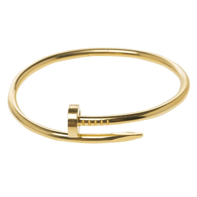 5a214eed3b0c3 Cartier Juste Un Clou 18kt Yellow Gold Bracelet 16cm