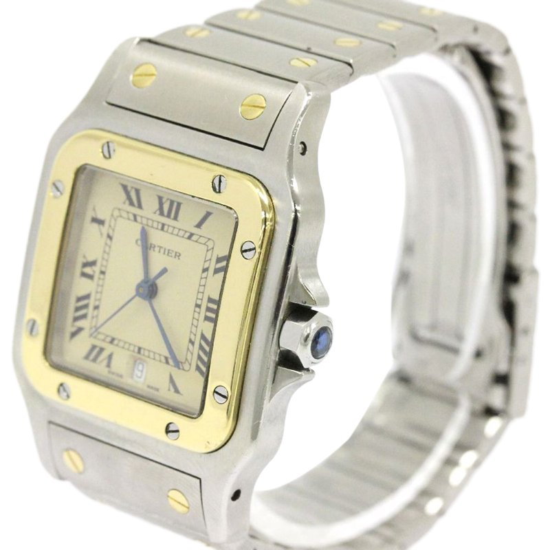 a222f0d7ea9b ... Cartier Cream 18K Yellow Gold and Stainless Steel Santos Galbee Women s  Wristwatch 29MM. nextprev. prevnext