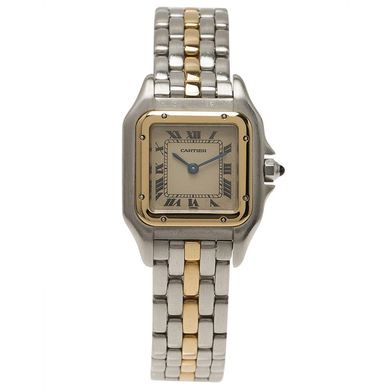 eb2231b24301 Buy Cartier Ivory 18K Yellow Gold and Stainless Steel Panthere ...