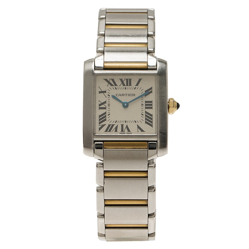fa7e5819da6 Buy Cartier Ivory Stainless Steel and 18K Yellow Gold Women s ...
