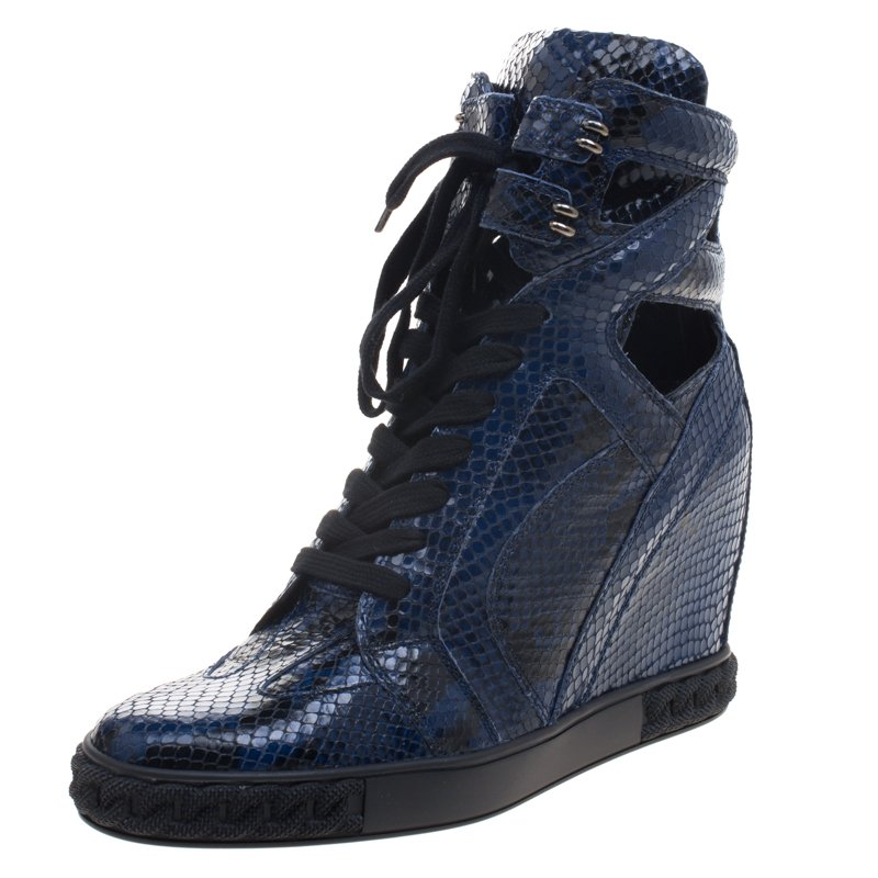 Cut Out Size 41 Tone High Two Sneakers Casadei Wedge Python Top 80OPXNkwZn