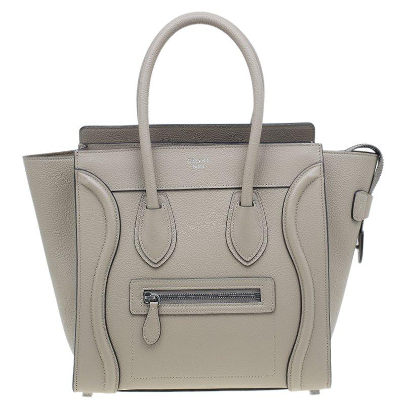 Celine Beige Leather Micro Luggage Tote Nextprev Prevnext
