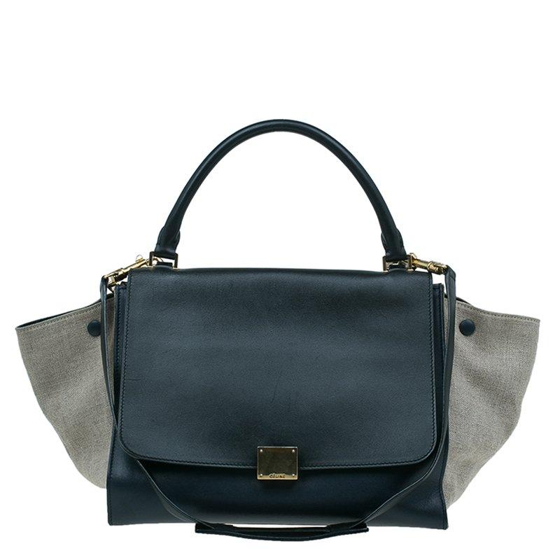 bf08c4dbf3 ... Celine Tri Color Leather and Canvas Small Trapeze Shoulder Bag.  nextprev. prevnext