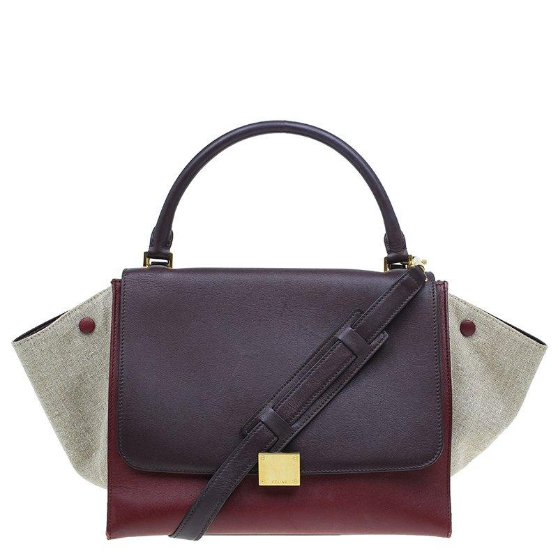 52219ff46500 ... Celine Tri Color Leather Canvas Medium Trapeze Bag. nextprev. prevnext