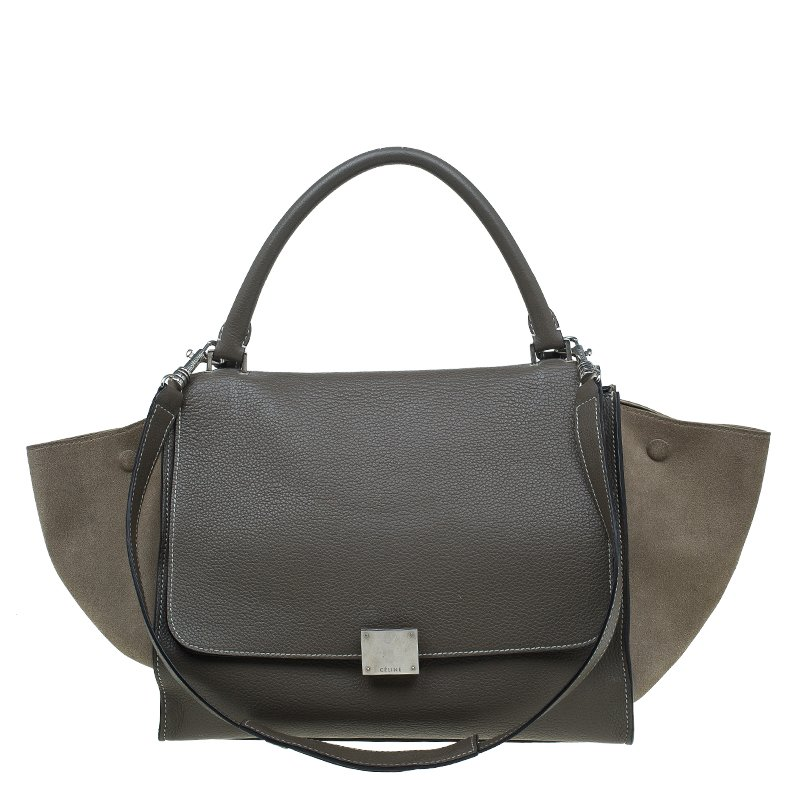 3ffd148a368 Buy Celine Brown Leather Medium Trapeze Bag 54202 at best price