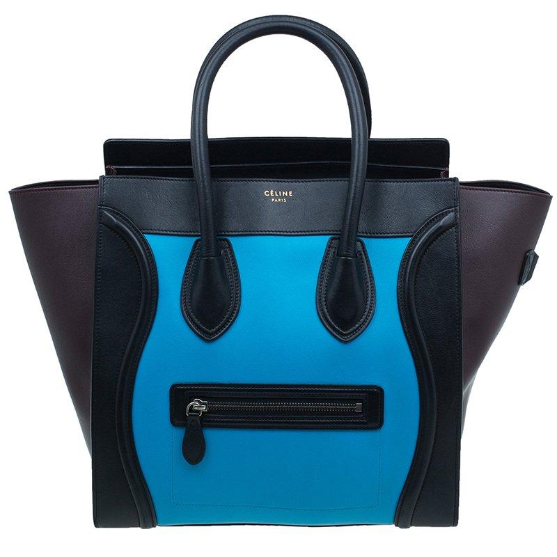 7332b697ab Buy Celine Tri-Color Leather Mini Luggage Tote Bag 552 at best price ...