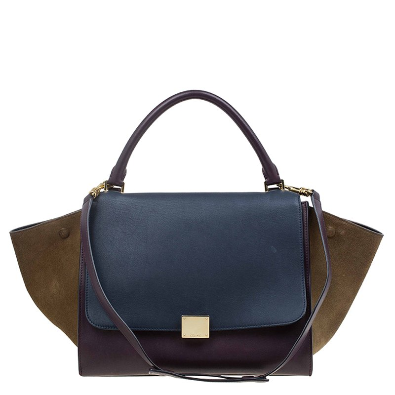 47faa74b49a ... Celine Tri Color Leather/Suede Small Trapeze Bag. nextprev. prevnext